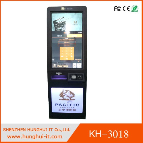 42inch Self-service Cinema Ticket Printing Kiosk / Paper Ticket Printing Machine