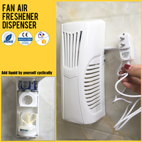 Electric version PP automatic fan air freshener dispenser light sensor timer perfume essential oil dispenser