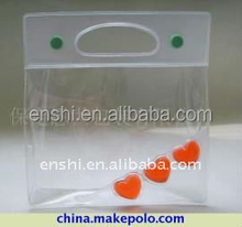 Transparent Clear Waterproof Wholesale Custom Packaging Promotional PVC Cosmetic Bag Zipper Pouch For Lady