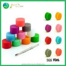 2015 New design eco-friendly container silicone jars or wax oil extract bho