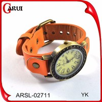 order free sample jewellery men wrist watch leather strap unisex leather watch
