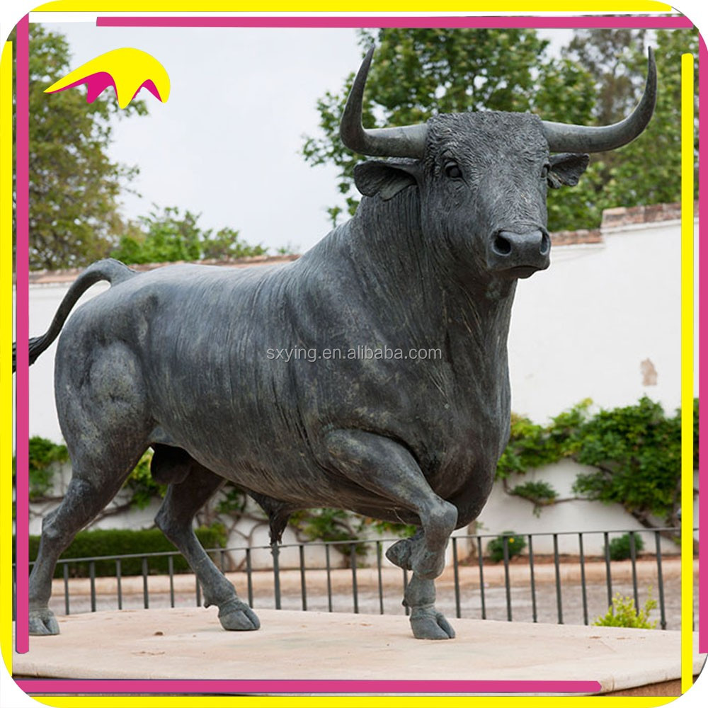 KANO1048 Decorative Highly Detailed Life Size Bull Statue