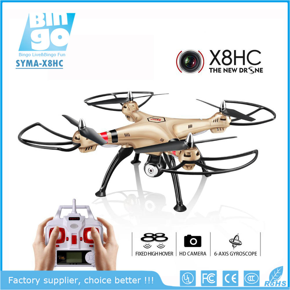 Bingo SYMA X8HC 4CH 6Axis Fixed High Hover Headless Quadrocopter Drone With 2MP HD Camera