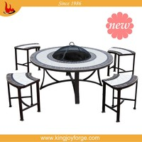 Fire pit Tables and cheap chairs of garden