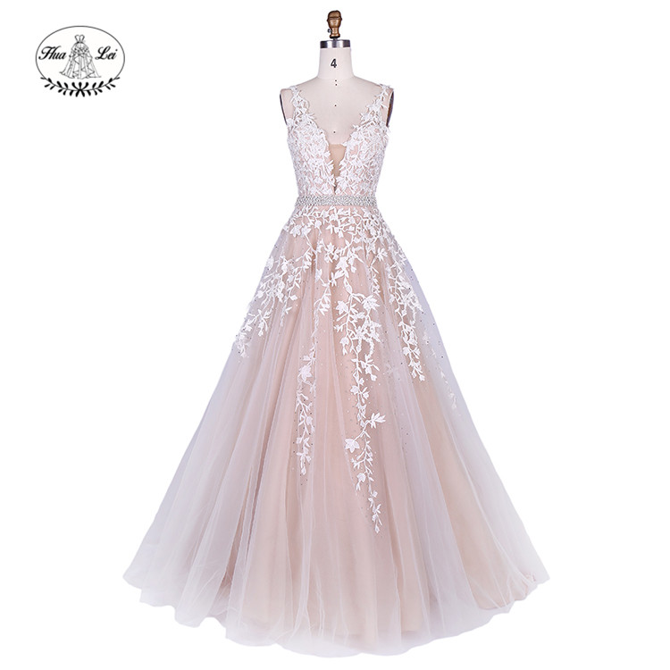 Sexy Rhinestone Embroidery Tube Long Prom Dress