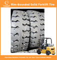 Rim-Bounded Solid Tyres Forklift Tyres 250-15/7.0