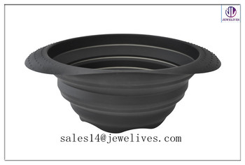Multifunctional and Convenient Food Grade Silicone Collapsible Bowl