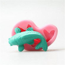 Silicone Fondant Cake Molds 3D Fish Candle Soap Mold Chocolate Candy Mould