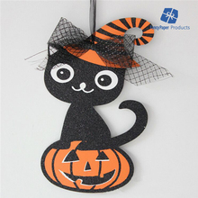 Glitter Cardboard Cat Decoration Halloween Props China