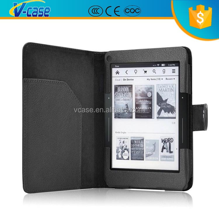 V CASE Lichi PU Leather Case Tablet PC Case For Amazon Kindle Voyage 6