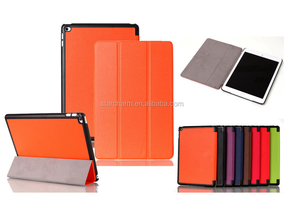 Tri-Fold Ultra Slim Magnetic Protective Leather Book Cover Case for iPad Air 2