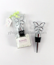 wine stopper with butterfly handle , wedding favors wine bottle stopper