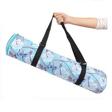 cyclinder shape waterproof yoga mat bag, yoga tote bag