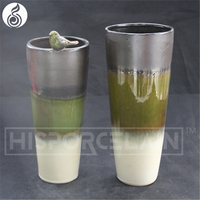 vase flower factory direct whosale reactive glazed porcelain Chinese antique white ceramic antique brass flower vase