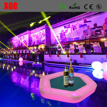 Illuminated Hollow Structure Floating Swimming PoolTable for Playing Poker Floating Led Table