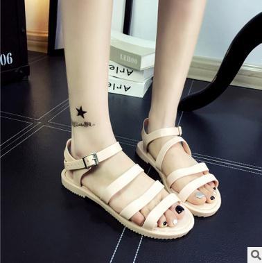 New design woman summer flat shoes fashion jelly design wholesale ladies sandals