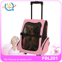 Convenient Travel Expandable Pet Dog Carrier Bag pink color