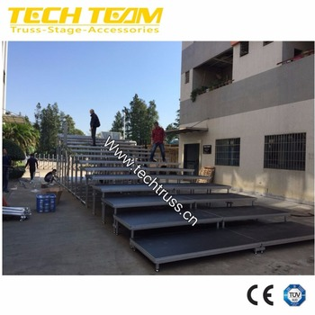 aluminium portable stage platform with step, wedding stage