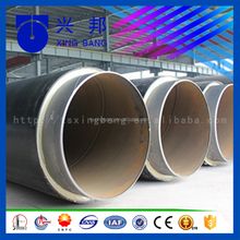 Best design API5L insulated steel pipe pur foam steel pipe with alarm line for water pipeline system