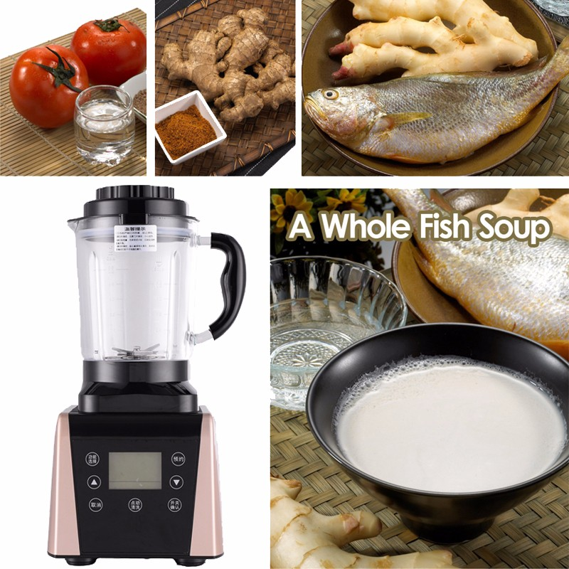 Super top quality slow baker chassis heating 1800watt electric blender smoothie blender
