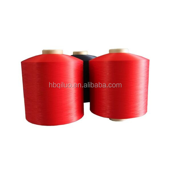 Super Fine Denier Double Heater Polyester Filamanet Yarn Knitting Weaving 100% Polyester DTY 100/96 High Tenacity Dope Dyed Yarn