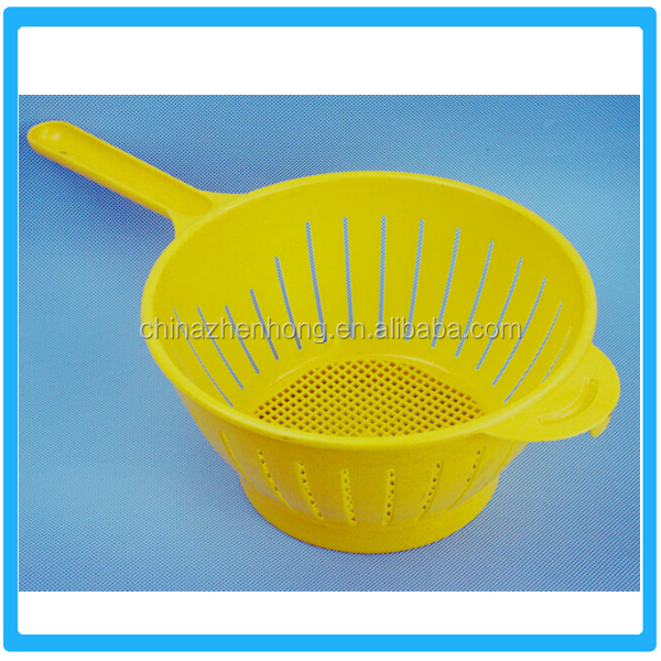 Fruits And Vegetables Plastic Drain Baskets Whit Handle,Kitchen Plastic Drain Basket With Hand