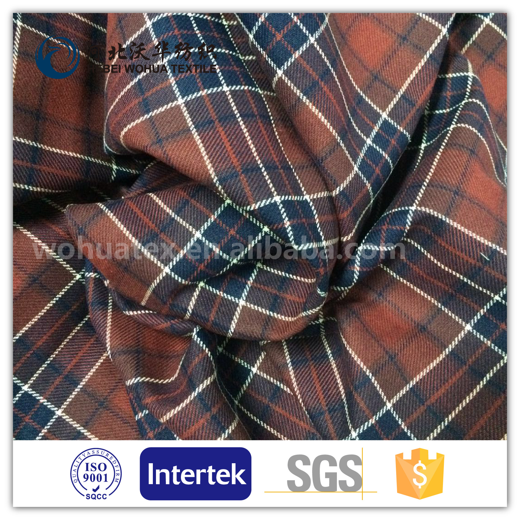 100% cotton yarn dyed fabric in gingham design for garment