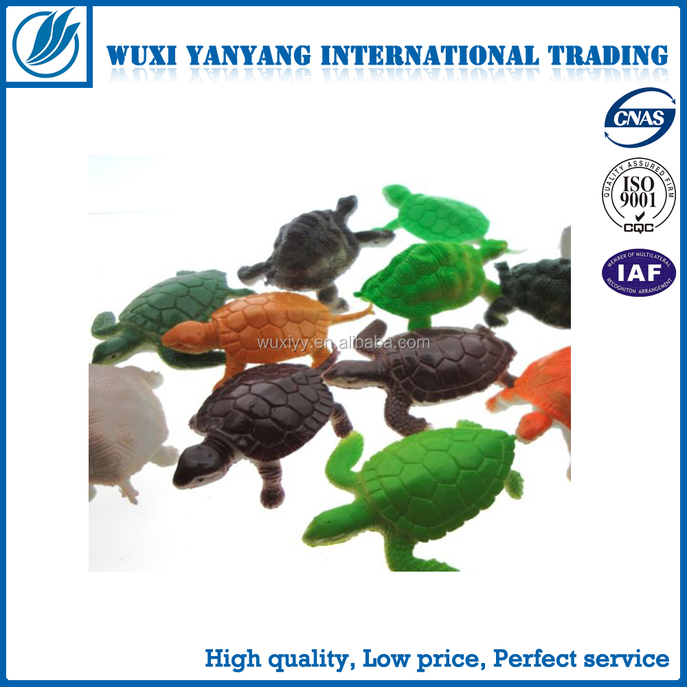 Small sea turtle plastic pvc animal toy , ODM kids gifts