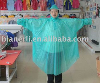 cheap promotion blue rain poncho