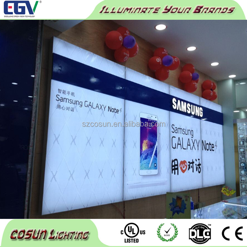 Flex banner cloth fabric indoor big light box signboard for shops