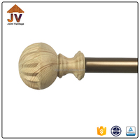 China factory supply designs wooden curtain rod,curtain pole