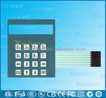 OEM membrane switch panel with poly dome keys