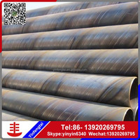 factory direct sales spiral welded steel pipe, round ssaw welded steel pipe