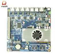 Mini itx fanless atom 4 lan motherboard with onboard Intel Atom D2550 CPU/INTEL 82574L Gigabit NIC router server SBC board