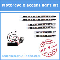 15 Colors 12V Multi Color Changing Motorcycle Light Kit with Remote Controller