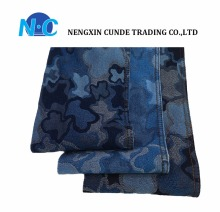 Lower price but good quality 70%C 29%T and 1% spandex Jacquard denim fabric from China NC company