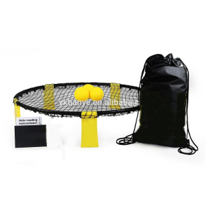 Striker Beach Volleyball Spike Ball Game Net Pump Carry Bag outdoor games spike ball set