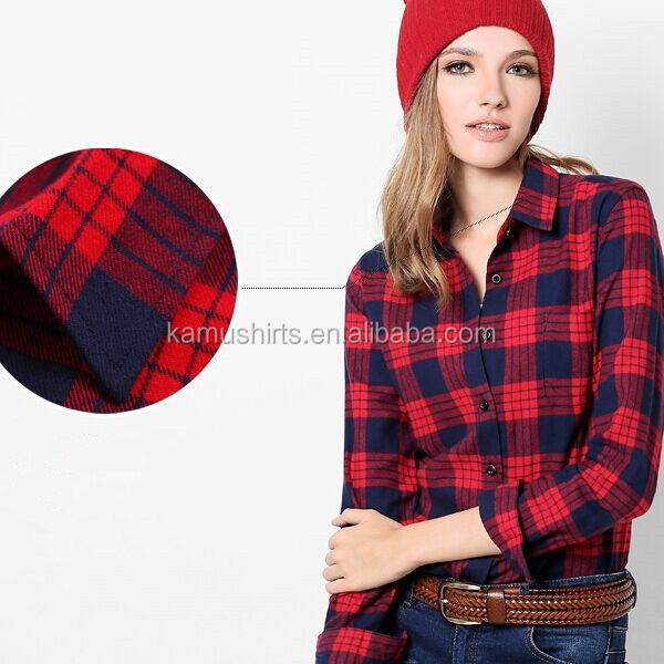long sleeve plaid shirt for women wholesale plaid flannel shirt flannel shirt womens