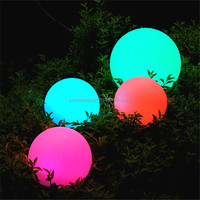 PBB-200 outdoor color changing plastic solar ball waterproof solar illuminated globe