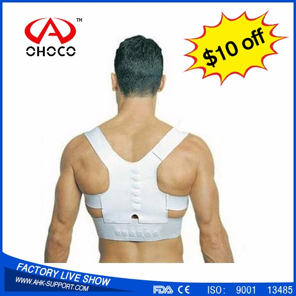 High Quality Magnetic physiotherapy Back posture support brace,new material durable Posture Corrector