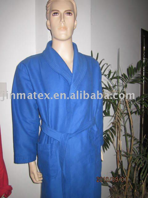microfiber bathrobe/double sided plush bathrobe