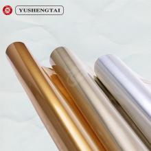 Glossy gold color transfer film hot stamping foil for glass