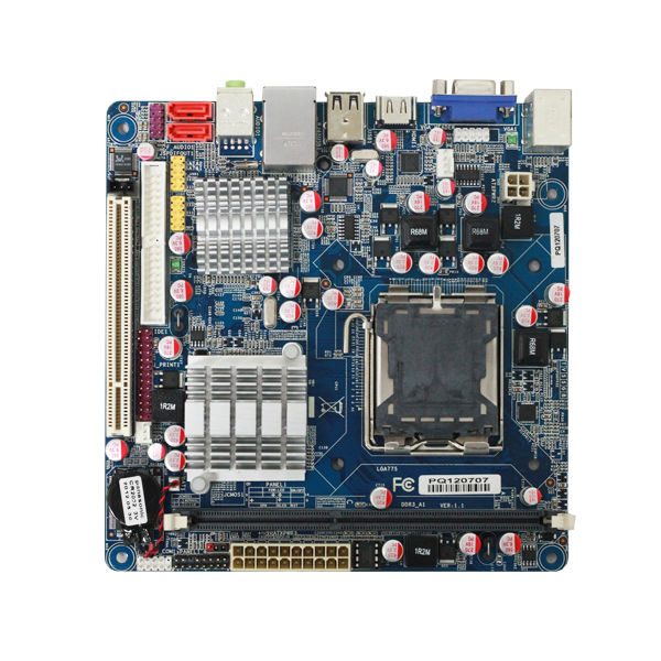 mini itx intel lga775 motherboard G41 supports DDR3/ VGA/HDMI/LPT /PCI slot