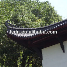 Unique roof decorative materials traditional black Chinese tiles