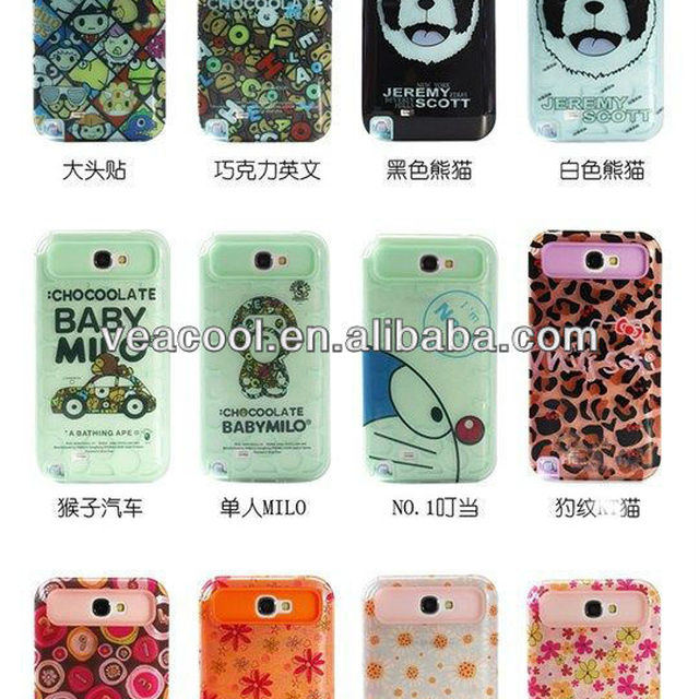 Flower TPU Soft Glow in the Dark Hard Back Phone Case Cover for Samsung Galaxy Note 2 N7100/ i9220 Case