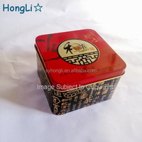 Chinese Style Embossed Square Metal Tea Tin Container for Pacakge Tea