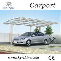 Polycarbonate and aluminum carport folding electric tricycle