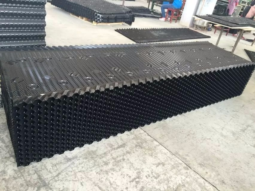 Rigid High Quality Black Sheets Cooling Tower PVC Fill for Cross Flow Cooling Tower