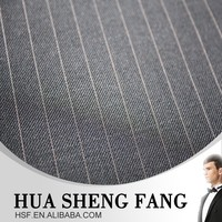 Ready Stock 100% Machine Washable Striped Wool Suit Fabrics