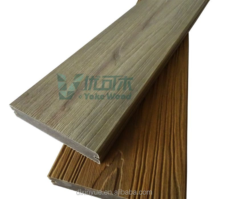 2016 WPC Co-Extrusion Floor Brushed Decking Floor